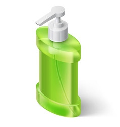 Liquid soap dispenser vector