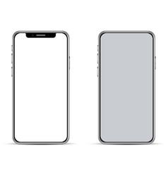 Modern smartphone basic template vector