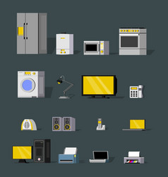 modern wireless devices collection vector image vector image