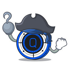 Pirate qash coin character cartoon vector