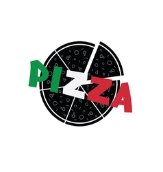 pizza color vector image