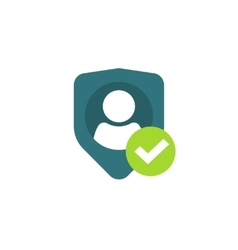 Privacy icon personal protection authentication vector image