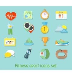 running fitness sport icons Healthy life set vector image vector image