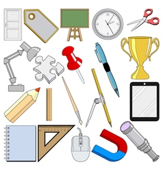 School related objects vector
