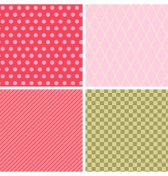 Seamless abstract retro pattern Set of 4 geometric vector image vector image