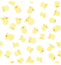 Seamless pattern with popcorn on a white vector