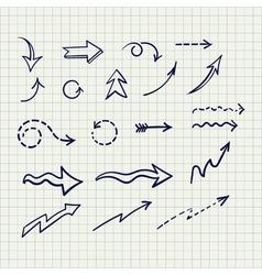 set arrows of sketches vector image