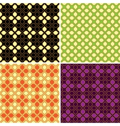 set of four retro seamless patterns vector image vector image