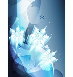 snow flake vector image