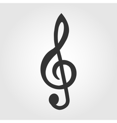 treble clef icon flat design vector image vector image