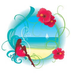 tropic beach vector image vector image