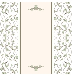 Vintage card with floral ornament vector image vector image