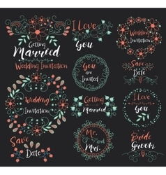 Wedding invitationsave datei love yougetting vector