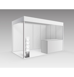 White exhibition Stand with Brochure Holder vector image vector image