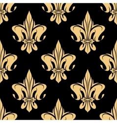 Yellow royal fleur-de-lis seamless pattern vector