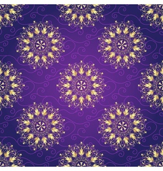 Seamless dark violet christmas pattern vector