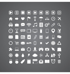 Set of media icons vector