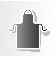 Apron simple sign  new year blackish icon vector