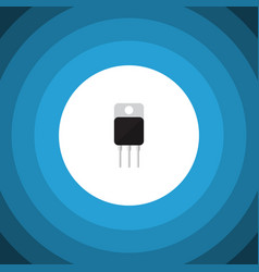 Isolated transistor flat icon receiver vector