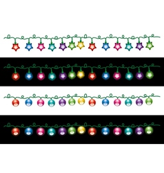 Christmas electric light lamps vector