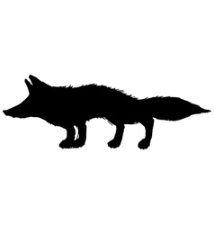 Silhouette of red fox vector