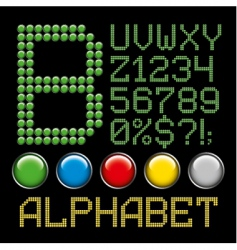 letters alphabet vector image