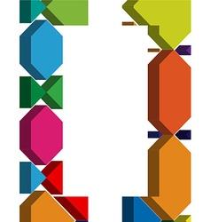 3d font symbol vector image vector image
