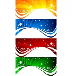 vector set of abstract banners vector image