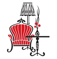 armchair tattoo vector image