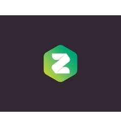 Abstract letter z logo design template colorful vector