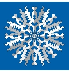 Christmas snowflake icon paper cut out origami vector
