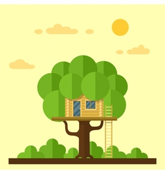 House on tree vector