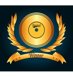 Music award design vector