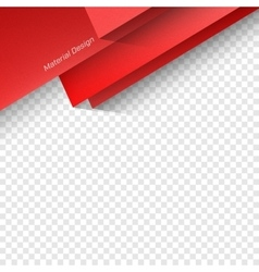 Polygonal material design vector