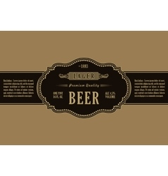 Vintage frame label gold sticker bottle beer vector