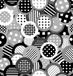 Black and white background with circles vector