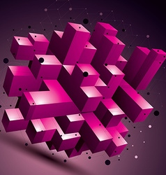 3d mesh contemporary style abstract colorful vector