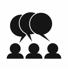 People with dialog speech bubbles icon vector