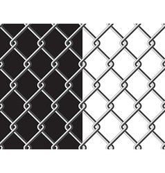 Steel mesh metalic fance black and white vector