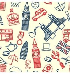 England seamless pattern vector