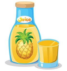 A bottle of pineapple juice vector image vector image