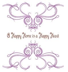 A happy home vector