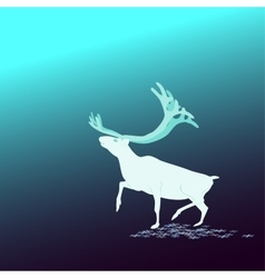 And The Background Deer North vector image vector image