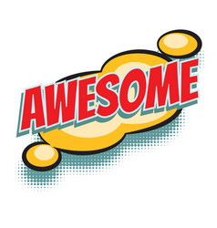 Awesome comic word vector