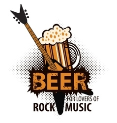 Beer for lovers of rock music vector