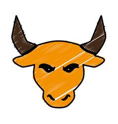 Bull icon image vector
