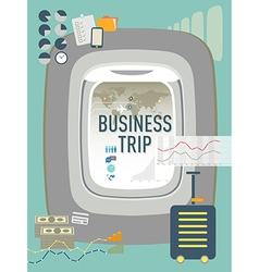 Business trip travel concept design vector
