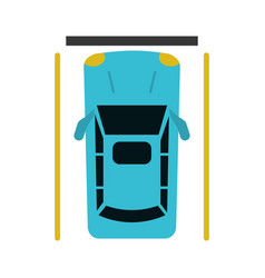 car parking top view vector image