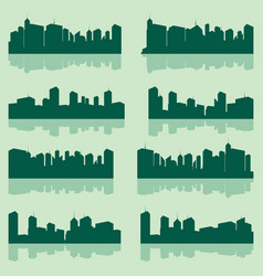 City lanscape set vector