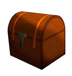 Closed treasure chest isolated vector image